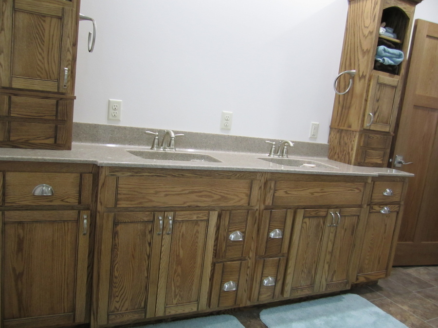 Bathroom Custom Oak Cultured Marble 1