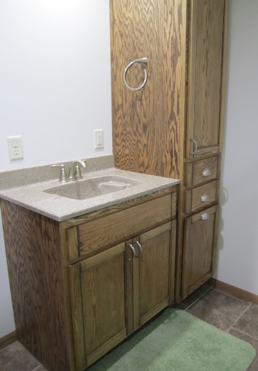 Bathroom Custom Oak Cultured Marble 2