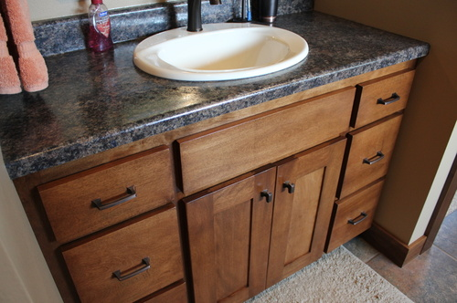 Bathroom Fruitwood Birch Laminate 1