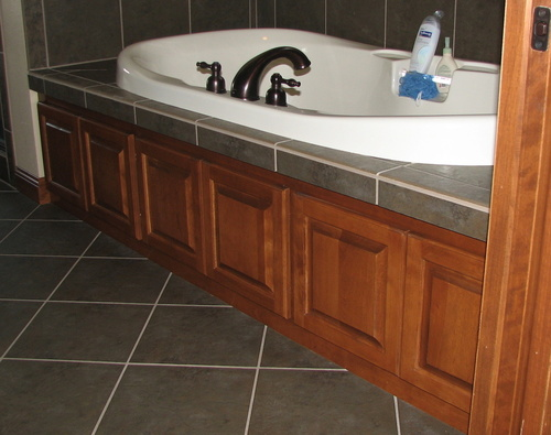 Bathroom Fruitwood Birch Tub Front 1