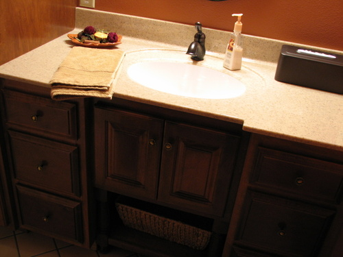Bathroom Latte Birch Custom Cultured Marble 3