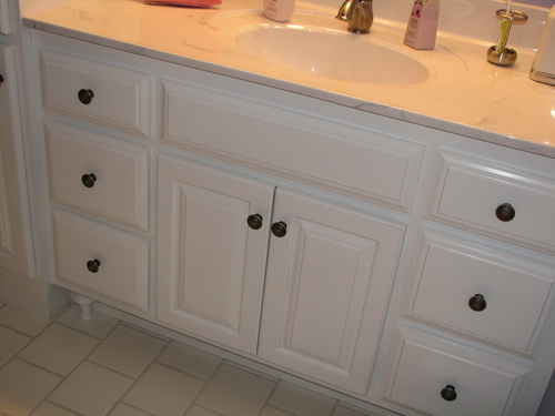 Bathroom Painted Birch Marble
