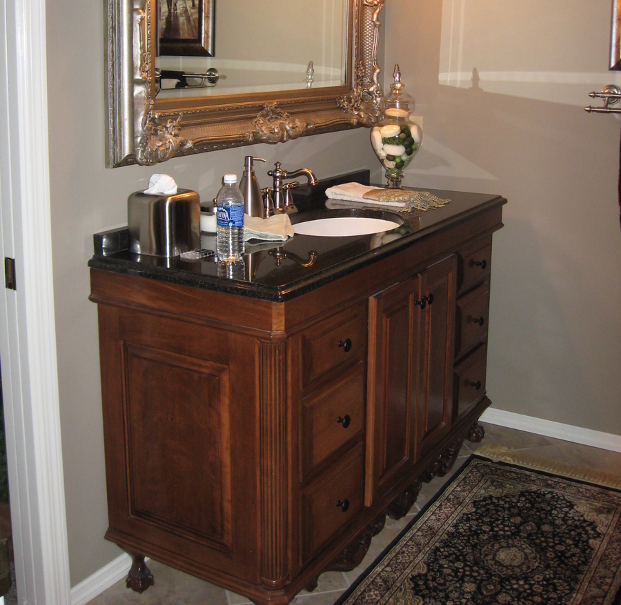 Bathroom Fruitwood Birch Granite Furniture Piece