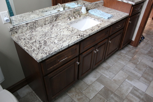 Bathroom Coffee Birch with Light Granite