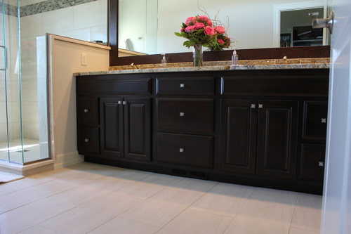 ... Bathroom Dark Mocha Birch Granite Top ...