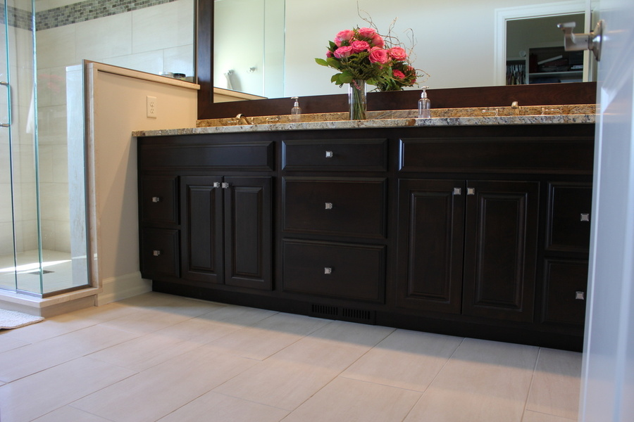 Bathroom Dark Mocha Birch Granite Top