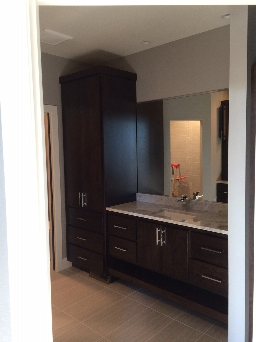 Mocha Birch Bathroom Cabinetry