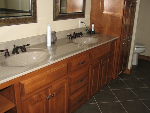 Bathroom Fruitwood Birch Cultured Marble 2