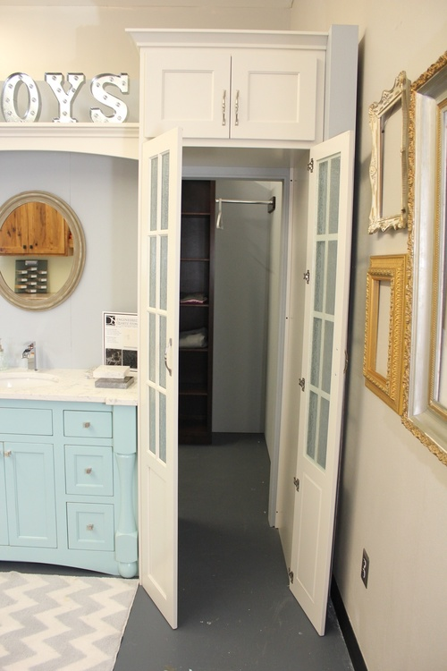 Bathroom Painted Birch Walkthrough Closet