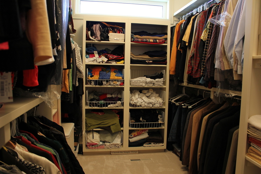 Custom White Birch Closet Storage