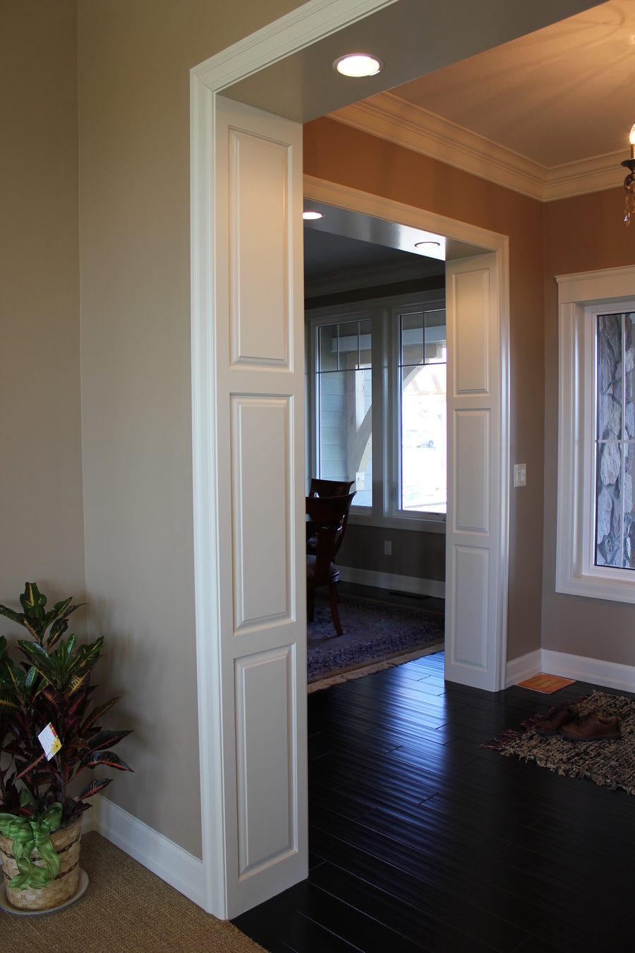 White Wood  Painted Birch Doorframe