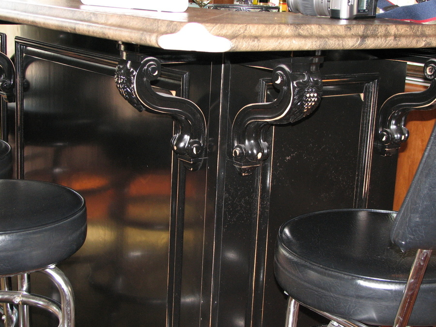 Kitchen Black Distressed Birch Laminate 1