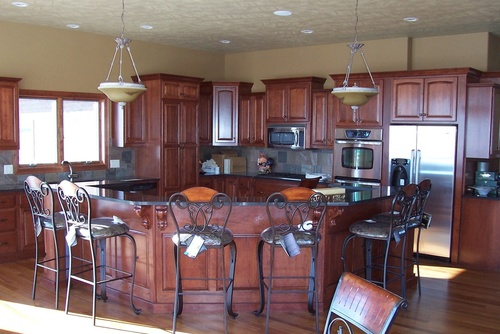 Kitchen Chestnut Cherry Granite 1