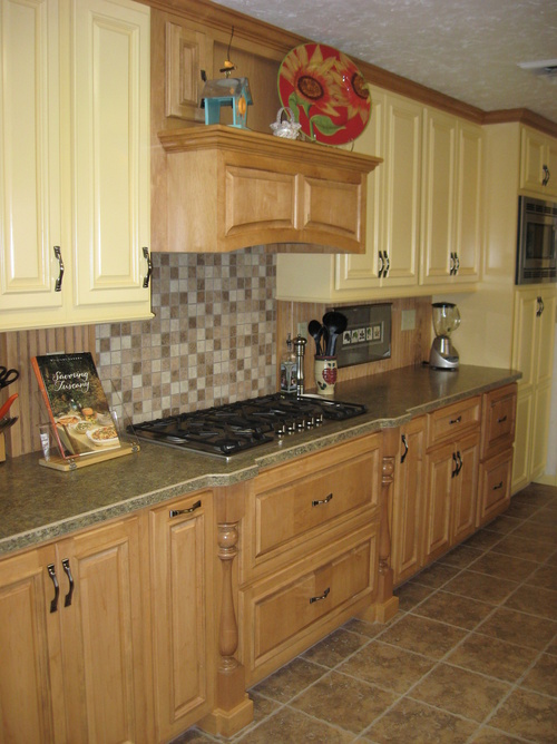 Kitchen Cream Ginger Birch Laminate 1