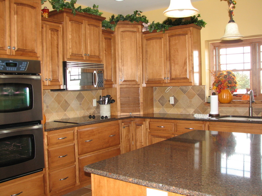Kitchen Fruitwood Birch Granite 1