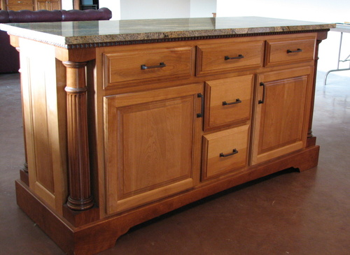 Kitchen Natural Hickory Granite Ginger Accent 1