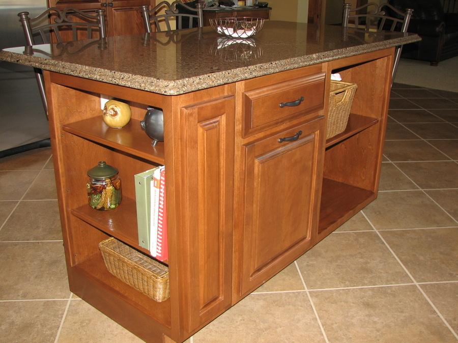Kitchen Teak Birch Cambria Bookcase End