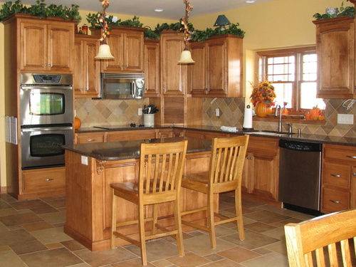 Kitchen Teak Birch Granite 4
