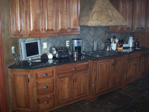 Kitchen Chestnut Birch Granite 1