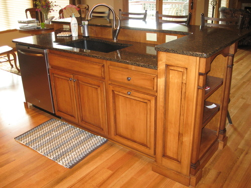 Kitchen Teak Birch Granite 1