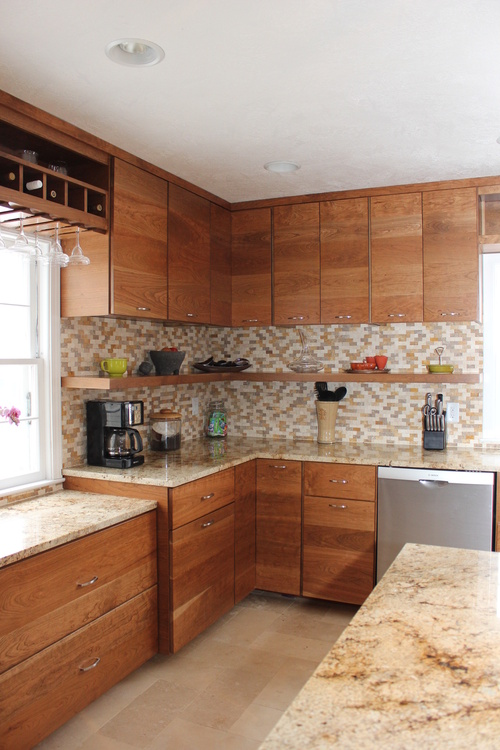 Custom Kitchen Cabinets in Cherry with Stain