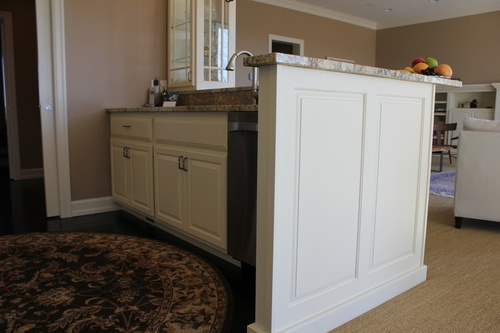 Kitchen Cabinet Wall of White Painted Birch