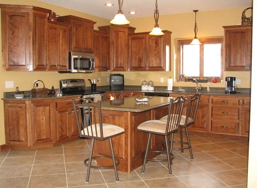 Kitchen Fruitwood Birch Granite 2