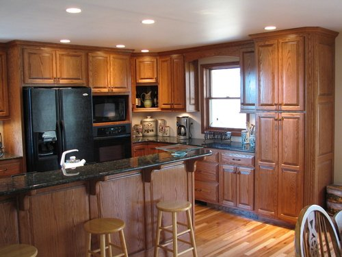 Kitchen Fruitwood Oak Granite 2