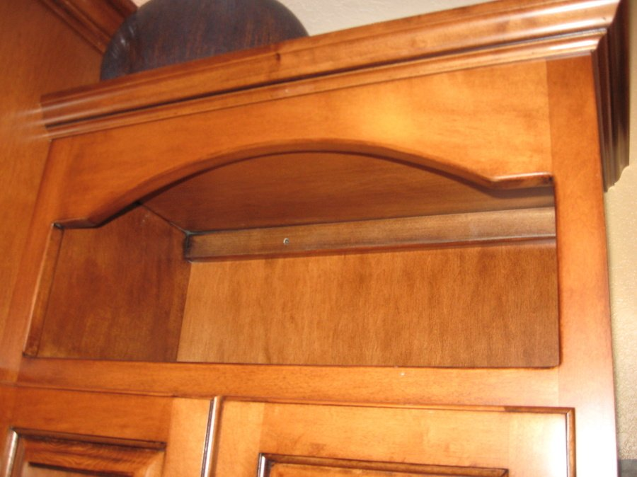 Kitchen Teak Birch Granite Curved Arch 13