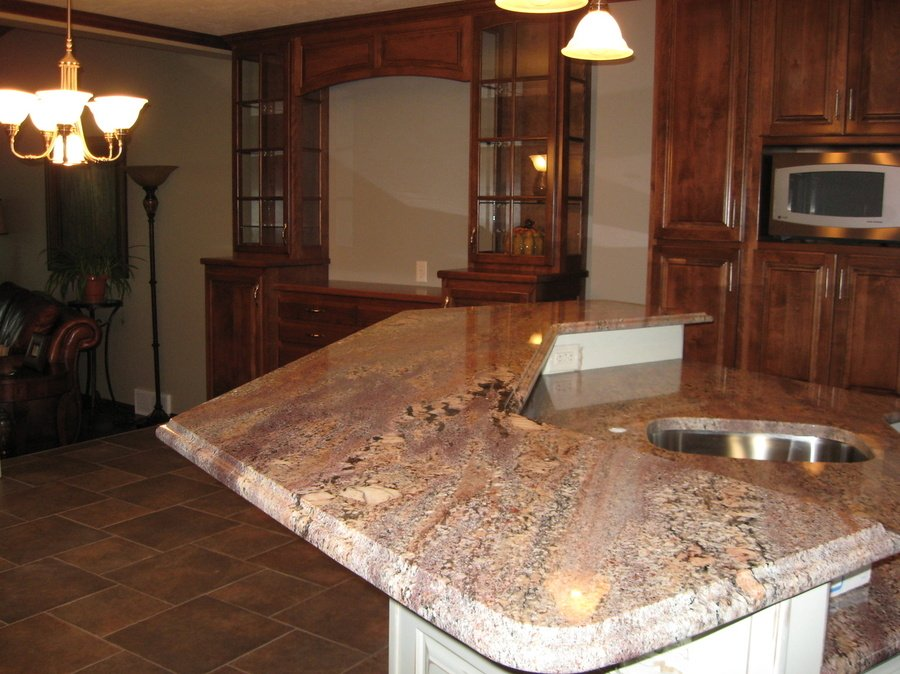 Kitchen Truffle Birch Granite 1
