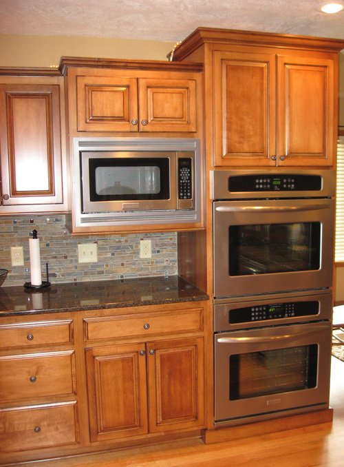 Kitchen Teak Birch Granite Double Oven 11