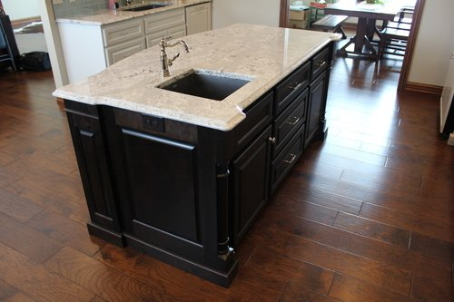 Kitchen Mocha Birch Island with Granite