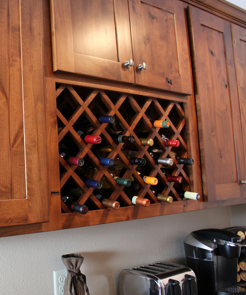 Kitchen Alder Stain Winerack