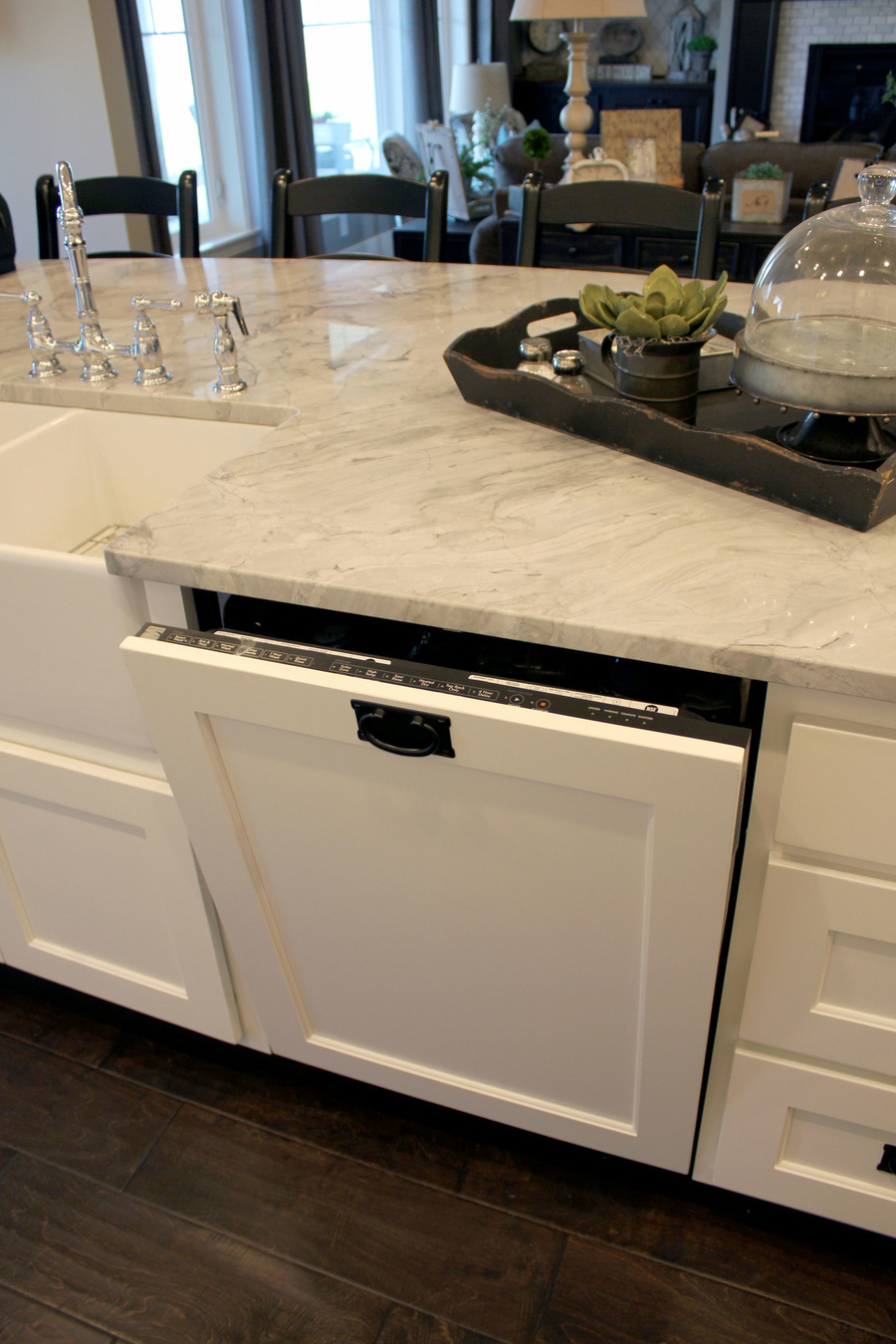 Kitchen Painted Birch Granite Dishwasher Cover