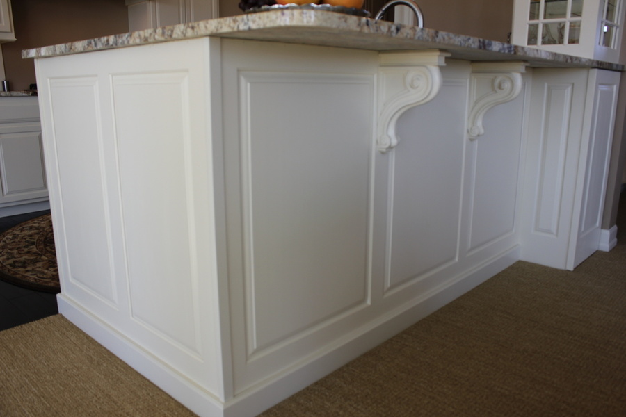 Kitchen White Painted Birch Granite Corbel