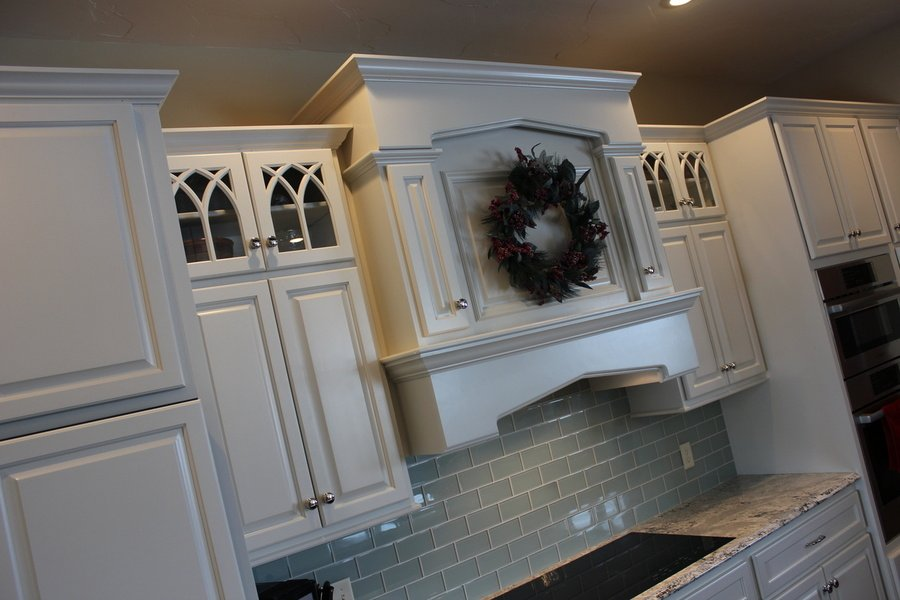 Kitchen Painted Mocha Birch Granite Hood Cover