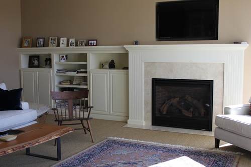 A Livingroom Painted Birch Fireplace