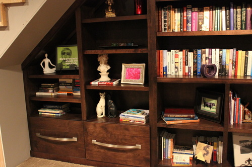 Living Room Custom Birch Bookcase
